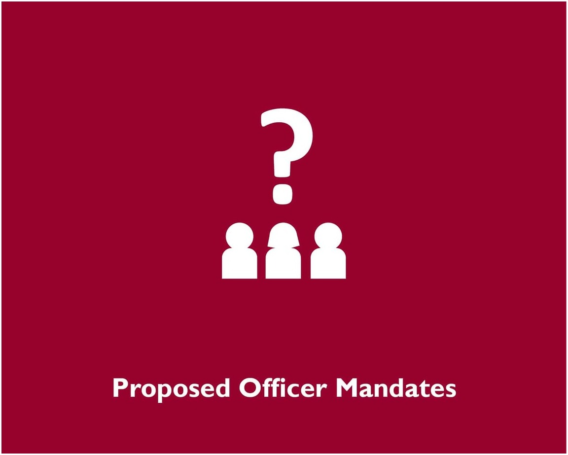 Proposed Officer Mandates
